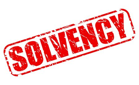 insolvent: SOLVENCY red stamp text on white