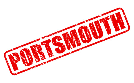 hants: PORTSMOUTH red stamp text on white (City in England)