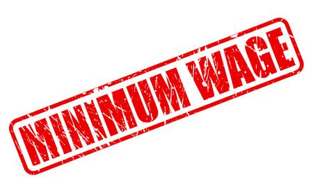 salarios: SALARIO MÍNIMO texto del sello rojo sobre blanco Foto de archivo