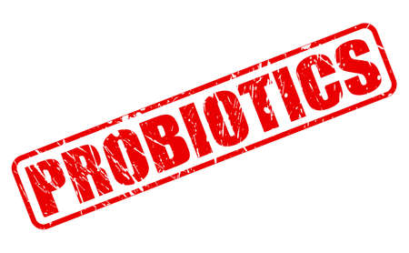ibs: Probiotics red stamp text on white