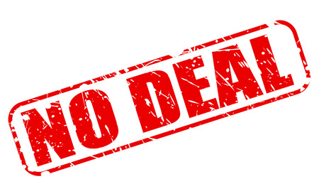 unapproved: NO DEAL red stamp text on white Stock Photo