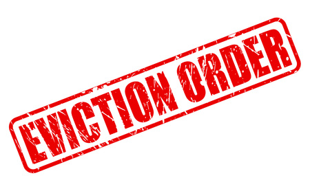 expulsion: EVICTION ORDER red stamp text on white