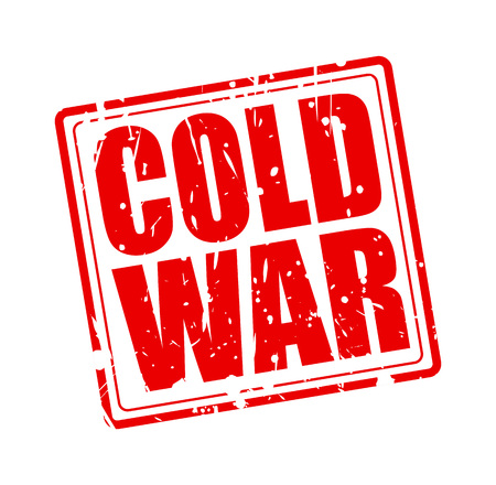 cold war: Cold war red stamp text on white