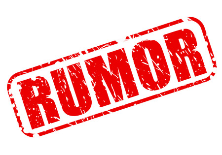 rumor: RUMOR red stamp text on white Stock Photo