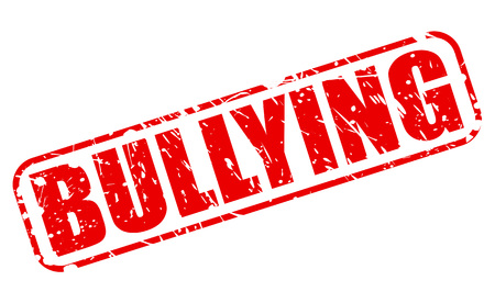 ruffian: BULLYING red stamp text on white Stock Photo