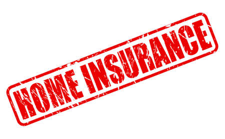 burglary: Home Insurance red stamp text on white