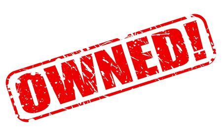retained: Propiedad texto del sello rojo sobre blanco