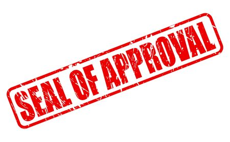 endorse: SEAL OF APPROVAL red stamp text on white