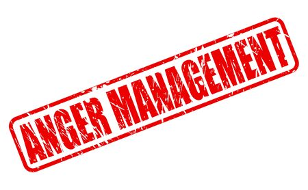 anger management: ANGER MANAGEMENT red stamp text on white