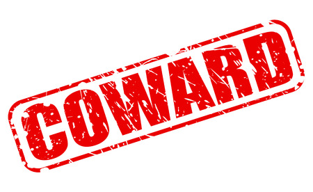 coward: Coward red stamp text on white