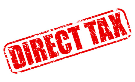 levy: Direct Tax red stamp text on white