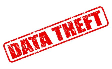 data theft: DATA THEFT red stamp text on white