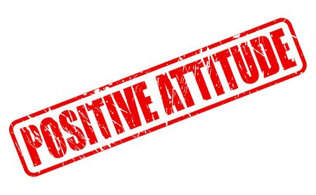 conclusive: POSITIVE ATTITUDE red stamp text on white