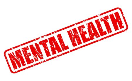 ocd: MENTAL HEALTH red red stamp text on white Stock Photo