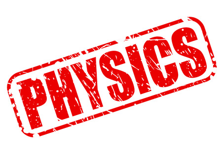 biophysics: PHYSICS red stamp text on white Stock Photo