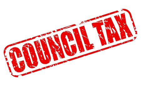 levy: COUNCIL TAX red stamp text on white Stock Photo