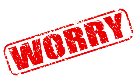 apprehension: Worry red stamp text on white