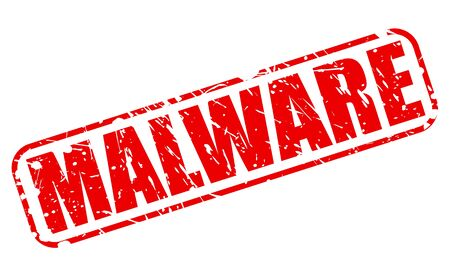 fraudulent: MALWARE red stamp text on white