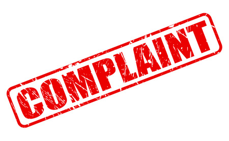 complain: Complaint red stamp text on white