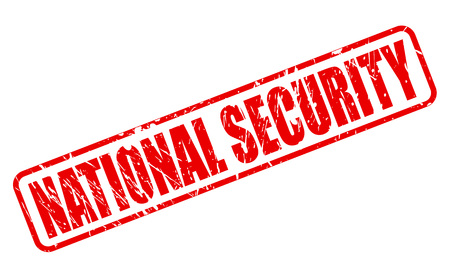 policing: NATIONAL SECURITY red stamp text on white