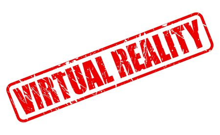virtual reality simulator: Virtual Realty red stamp text on white
