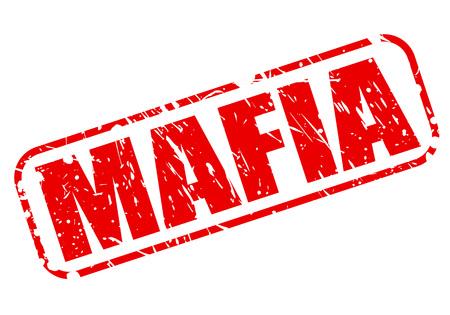 godfather: Mafia red stamp text on white