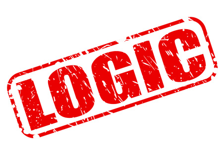philosophy of logic: Logic red stamp text on white
