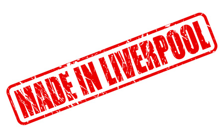 liverpool: Made in Liverpool red stamp text on white