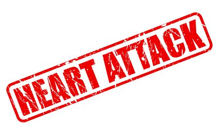 heart bypass: Heart Attack red stamp text on white Stock Photo