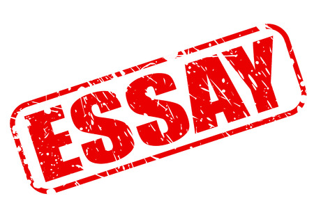 essay: ESSAY red stamp text on white