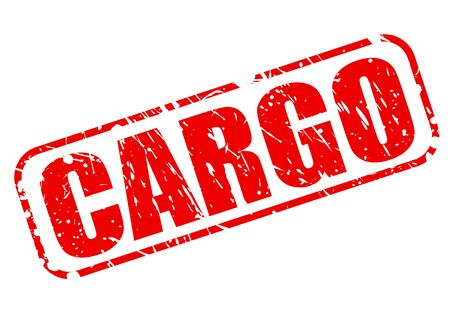 shipload: Cargo red stamp text on white