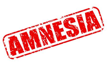 amnesia: AMNESIA red stamp text on white Stock Photo