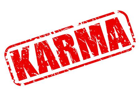 karma: KARMA red stamp text on white Stock Photo