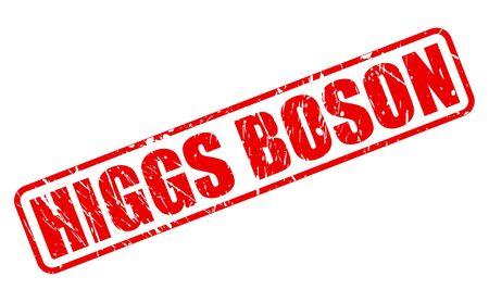 hadron: HIGGS BOSON red stamp text on white Stock Photo