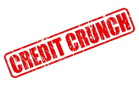 cutback: CREDIT CRUNCH red stamp text on white