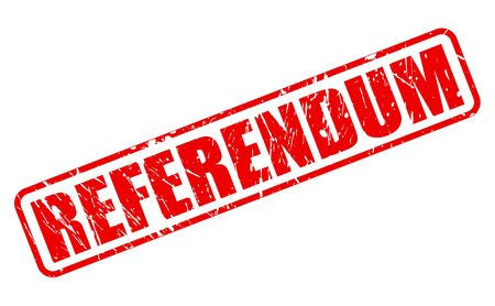referendum: REFERENDUM red stamp text on white