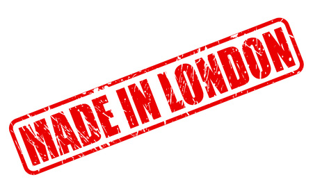 home grown: MADE IN LONDON red stamp text on white