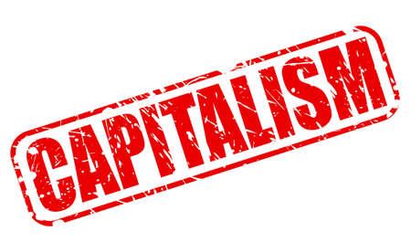 sociedade: texto CAPITALISMO selo vermelho no branco