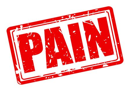 cramp: PAIN red stamp text on white