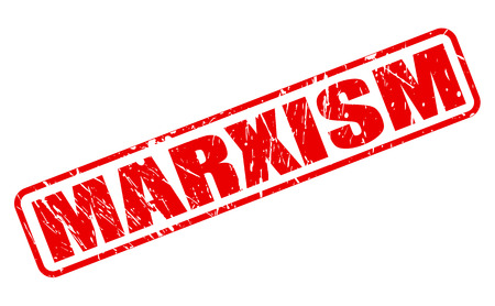 marxism: MARXISM red stamp text on white