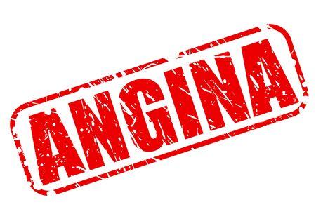 angor: ANGINE texte tampon rouge sur fond blanc Banque d'images