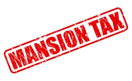tariff: MANSION TAX red stamp text on white