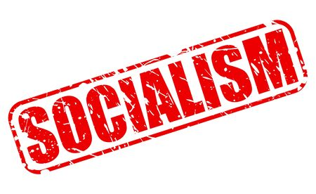 socialism: Socialism red stamp text on white