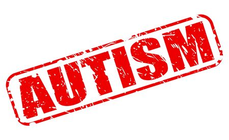 asperger: Autism red stamp text on white