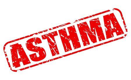 inflammatory: ASTHMA red stamp text on white Stock Photo