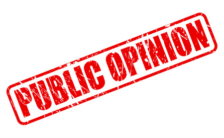 public opinion: PUBLIC OPINION red stamp text on white Stock Photo
