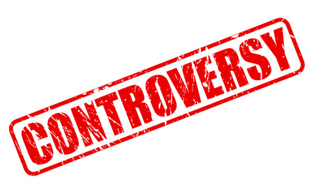 controversy: CONTROVERSY red stamp text on white Stock Photo