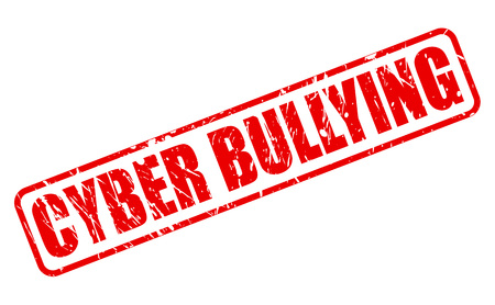harass: CYBER BULLYING red stamp text on white Stock Photo