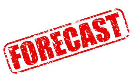 FORECAST red stamp text on white Stock fotó