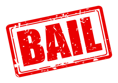bail: Bail red stamp text on white